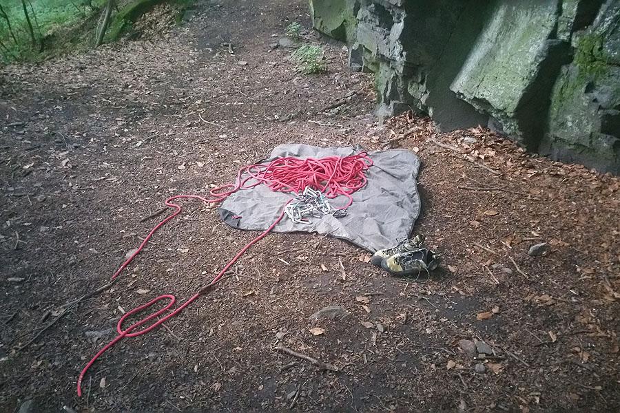 Kaľamárka, rozbalené lano